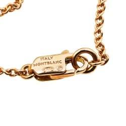 Montblanc 18K Rose Gold Star Heart Charm Bracelet