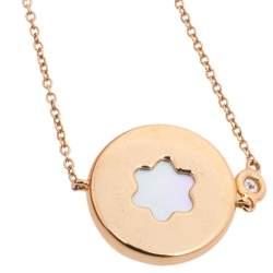 Montblanc Signet Mother of Pearl Diamond 18K Rose Gold Bracelet
