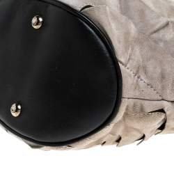 Montblanc Grey/Black Suede and Leather Limited Edition Starisma Alcina Hobo