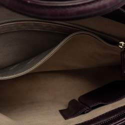Montblanc Purple Leather Top Zip Tote