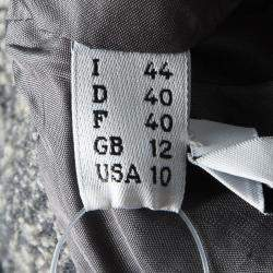 Moschino Grey Embellished Brooch Detail Wool Jacket M