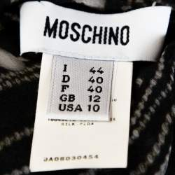 Moschino Black Printed Silk Bow Detail Lace Trim Sheer Camisole M