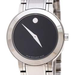 Movado Black Stainless Steel M0.08.03.014.1031.1033.4/002 Women's Wristwatch 27MM