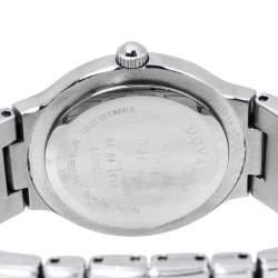 Movado Black Stainless Steel 84 E4 1853 Women's Wristwatch 26 mm