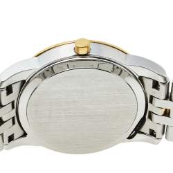 Movado Mother Of Pearl Two-Tone Stainless Steel Diamonds Safiro 0606900 Women's Wristwatch 28 mm