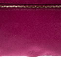 Mulberry Hot Pink Leather Multizip Pouch