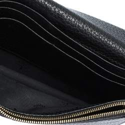 Mulberry Black Leather Bayswater Wallet on Chain