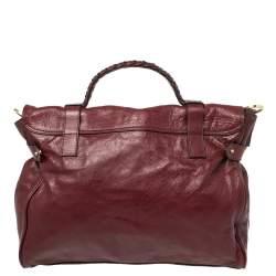 Mulberry Dark Red Leather Oversized Alexa Satchel