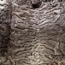 Nancy Gonzalez Grey/Brown Fur and Crocodile Hobo