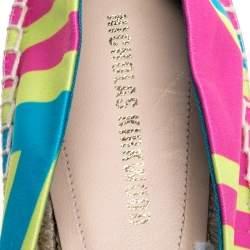 Nicholas Kirkwood Multicolor Satin Espadrilles Size 37
