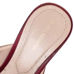 حذاء مولز نيكولاس كيركوود زخرفة كريستال إيدين ساتان عنابى مقاس 40
