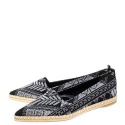حذاء إسبادريل نيكولاس كيركوود مكسيكان مقدمة مدببة قماش تويل مطرز مونوكرومي مقاس 40