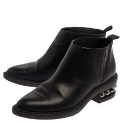حذاء بوت كاحل نيكولاس كيركوود ترصيعات سوزى جلد أسود مقاس 39