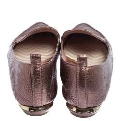 Nicholas Kirkwood Metallic Leather Beya PointedToe Loafers Size 37
