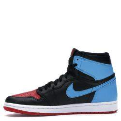 Nike Jordan 1 Unc/Chicago Leather Sneakers Size 38