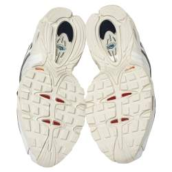 Nike Air Max White Leather And Fabric Tailwind IV Low Top Sneaker Size 40.5