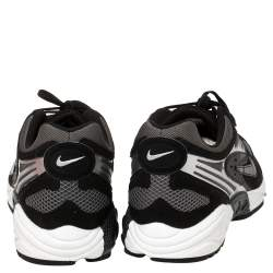 Nike Air Grey/Black Leather And Mesh Ghost Racer Sneakers Size 41