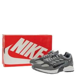 Nike Air Grey Leather And Mesh Ghost Racer Sneakers Size 41