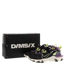 Nike Black/Purple Leather And Fabric React Vision Sneakers Size 43