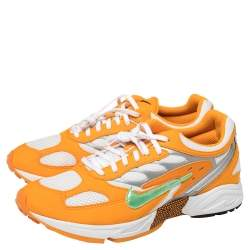 Nike White/Orange Leather And Mesh Air Ghost Racer Size 45