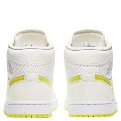 Nike Jordan 1 Mid SE Voltage Yellow Sneakers US 7.5W EU 38.5