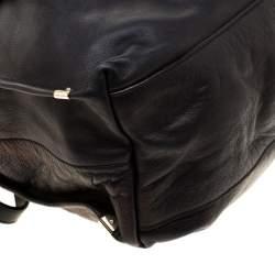 Nina Ricci Metallic Black Leather Ondine Zip Tote