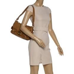 Nina Ricci Brown Leather Front Pocket Flap Shoulder Bag