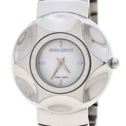 Nina Ricci White Mother of Pearl Stainless Steel N024.12 Women's Wristwatch 30 mm