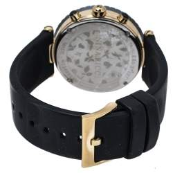 Nina Ricci Mother Of Pearl Black Ceramic Gold Tone Stainless Steel Chronograph Classic N034998SM Women's Wristwatch 40 mm