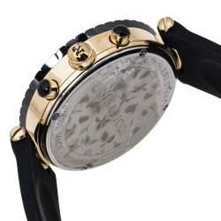ساعة يد نسائية نينا ريتشي كلاسيك أن034998أس أم كرونوغراف ستانلس ستيل لون ذهبي سيراميك سوداء صدف 40 مم