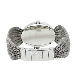 Nina Ricci Mother Of Pearl Stainless Steel Pleated Mesh N035.13 Women's Wristwatch 25 mm