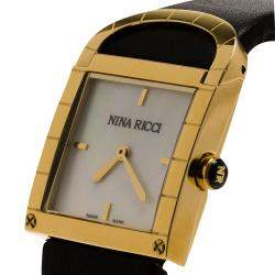 Nina Ricci White Gold-Plated Stainless Steel Classic Women's Wristwatch 29MM