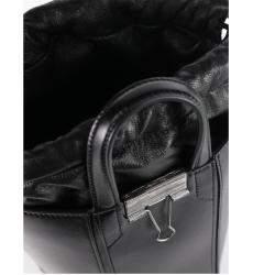 """حقيبة أوف وايت """"الين باكيت"""" فينتدج جلد أسود"""