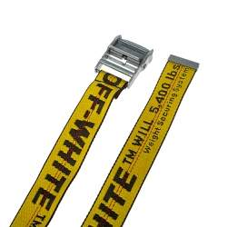 Off-white Yellow Nylon Classic Industrial Belt Size 198cm O/S