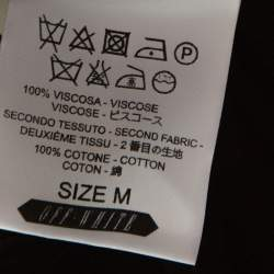 Off-White Black Pleated Crepe Asymmetric Skirt M
