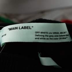 Off-White Black Cotton Modern Obstacles Wide Leg Sweatpants S