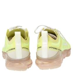 Nike Luminous Green Nylon And Suede Air Vapormax Sneakers Size 38.5