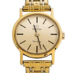 Omega Gold Plated Vintage De Ville 511.0508  Women's Wristwatch 22.50 mm