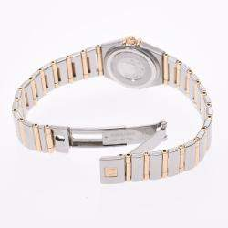 Omega White 18K Yellow Gold And Stainless Steel Constellation 1262.70 Women's Wristwatch 21 MM
