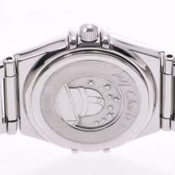 Omega Black Diamonds Stainless Steel Constellation Mini 1566.56 Women's Wristwatch 22.5 MM