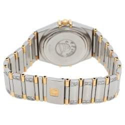 """ساعة يد نسائية أوميغا """"كونستيلاشون 796.1201"""" ألماس و ستانلس ستيل و ذهب أصفر عيار 18 بيضاء فضية 27.50 مم"""