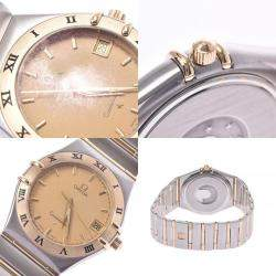 Omega Champagne 18K Yellow Gold and Stainless Steel Constellation 1212.10.00 Women's Wristwatch 33 MM