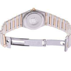 Omega Champagne 18K Yellow Gold And Stainless Steel Constellation 1272.1 Quartz Women's Wristwatch 22 MM