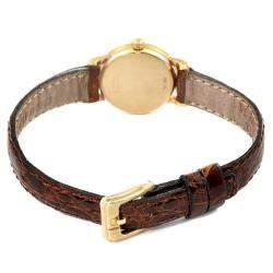 Omega Champagne Diamonds 18K Yellow Gold DeVille 1450 Women's Wristwatch 18.5 MM