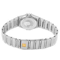 Omega Blue Diamonds Stainless Steel Constellation 1567.86.00 Women's Wristwatch 22.5 MM