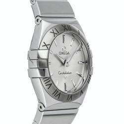 Omega Silver Stainless Steel Constellation 123.10.27.60.02.002 Women's Wristwatch 27 MM