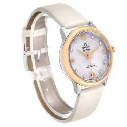 Omega White MOP Stainless Steel DeVille Prestige Butterfly Diamond 424.22.33.20.55.001  Women's Wristwatch 32.7MM