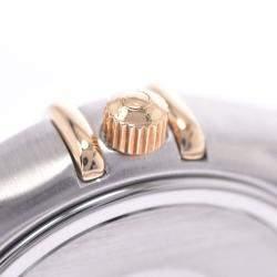 ساعة يد نسائية أوميغا كونستليشن  1372.30 كوارتز ستانلس ستيل وذهب أصفر عيار 18 فضية 25مم