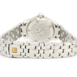 Omega White Stainless Steel Seamaster 120M 2581.70 Women's Wristwatch 26 MM