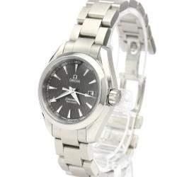 Omega Black Stainless Steel Seamaster Aqua Terra 231.10.30.61.06.001 Women's Wristwatch 30 MM